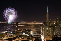 Fogos-de-artifício de San Francisco fotos de stock royalty free