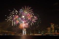 Fogos-de-artifício de San Francisco Fotos de Stock