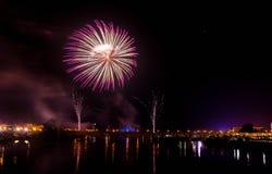 Fogos-de-artifício de San Juan em Badajoz imagem de stock royalty free