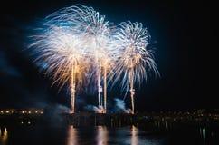 Fogos-de-artifício de San Juan em Badajoz fotos de stock royalty free