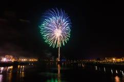 Fogos-de-artifício de San Juan em Badajoz fotografia de stock