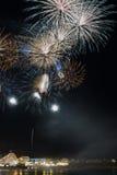 Fogos-de-artifício de Santa Cruz Foto de Stock Royalty Free
