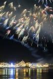 Fogos-de-artifício de Santa Cruz Imagens de Stock Royalty Free