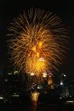 Fogos-de-artifício de Tailândia Fotos de Stock