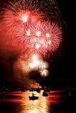 Fogos-de-artifício de Vancôver Fotografia de Stock Royalty Free