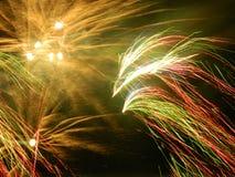 Fogos-de-artifício de dezembro em Colômbia Foto de Stock