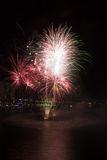 Fogos-de-artifício do aniversário do porto querido 2øs Fotos de Stock