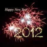 Fogos-de-artifício do ano novo 2012 Fotografia de Stock Royalty Free