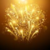 Fogos-de-artifício do ano novo ilustração stock