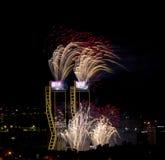 Fogos-de-artifício do ano novo Fotografia de Stock Royalty Free