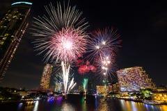 Fogos-de-artifício do ano novo Foto de Stock Royalty Free