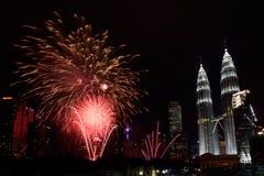 2016 fogos-de-artifício do ano novo Fotos de Stock