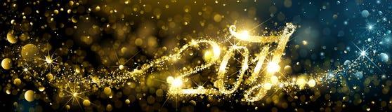 Fogos-de-artifício do ano novo com efeitos do bokeh Imagem de Stock Royalty Free