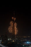 Fogos-de-artifício do ano novo de Dubai Foto de Stock Royalty Free