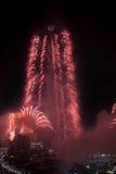Fogos-de-artifício do ano novo de Dubai Fotografia de Stock Royalty Free