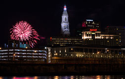 Fogos-de-artifício do ano novo de Hartford connecticut Imagens de Stock Royalty Free