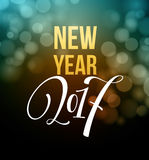 Fogos-de-artifício do ano novo e confetes 2017 Ilustração do vetor ilustração stock