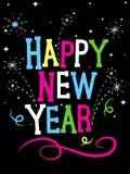 Fogos-de-artifício do ano novo feliz Imagem de Stock
