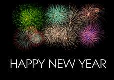 Fogos-de-artifício do ano novo feliz Imagens de Stock Royalty Free