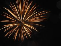 Fogos-de-artifício do dia de Canadá Foto de Stock