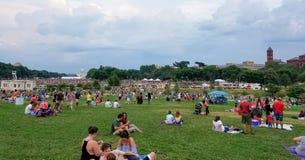 Fogos-de-artifício do Dia da Independência no Washington DC Foto de Stock