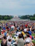 Fogos-de-artifício do Dia da Independência no Washington DC Fotos de Stock Royalty Free
