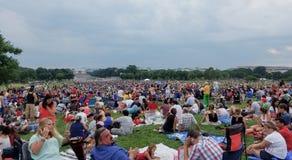 Fogos-de-artifício do Dia da Independência no Washington DC Foto de Stock Royalty Free