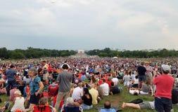 Fogos-de-artifício do Dia da Independência no Washington DC Fotografia de Stock