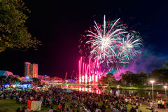 Fogos-de-artifício do dia de Austrália Foto de Stock Royalty Free