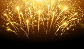 Fogos-de-artifício do feriado ilustração do vetor
