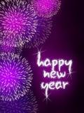Fogos-de-artifício do fogo de artifício do ano novo feliz Fotos de Stock