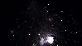 fogos-de-artifício do Lento-movimento II vídeos de arquivo