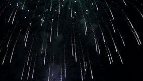 Fogos-de-artifício do movimento lento vídeos de arquivo