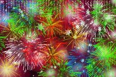 Fogos-de-artifício do tempo do Natal Imagens de Stock Royalty Free