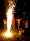 Fogos-de-artifício do uau! Fotografia de Stock