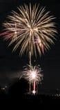 Fogos-de-artifício do Xmas em Aberdeen Imagem de Stock