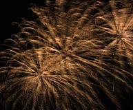 Fogos-de-artifício dourados Imagem de Stock Royalty Free