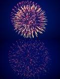 Fogos-de-artifício durante a celebração de Victory Day Foto de Stock