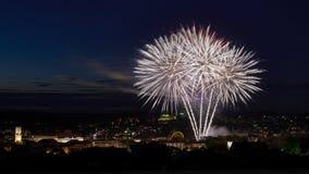 Fogos-de-artifício em Ansbach Foto de Stock