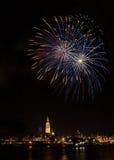 Fogos-de-artifício em Antuérpia Foto de Stock Royalty Free
