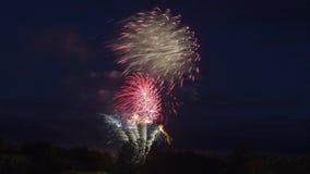 Fogos-de-artifício em celebrações do dia de Canadá Imagens de Stock Royalty Free