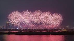 Fogos de artifício em Changsha, China fotos de stock