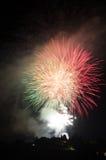 Fogos-de-artifício em Fiesole Imagens de Stock