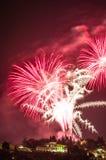 Fogos-de-artifício em Fiesole Fotografia de Stock