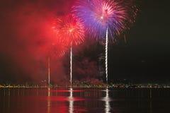 Fogos-de-artifício em Florianopolis foto de stock royalty free