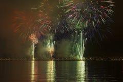 Fogos-de-artifício em Florianopolis imagens de stock royalty free