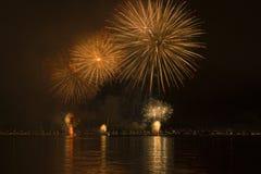 Fogos-de-artifício em Florianopolis imagem de stock