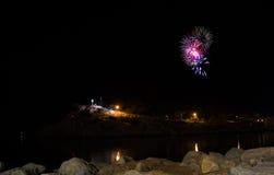Fogos-de-artifício em Makarska Imagens de Stock