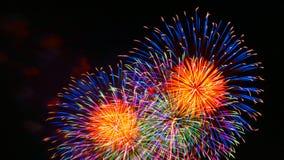Fogos-de-artifício em Minakuchi, Koka, Shiga, Japão Foto de Stock Royalty Free