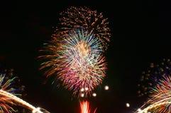 Fogos-de-artifício em Omimaiko, Otsu, Shiga, Japão Fotografia de Stock Royalty Free